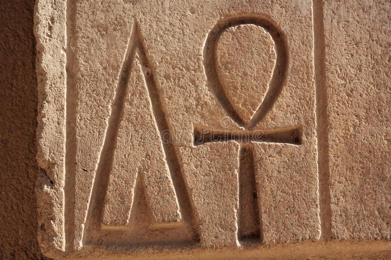The Ankh Ancient Symbol Also Known As Key Of Life Egypt Stock