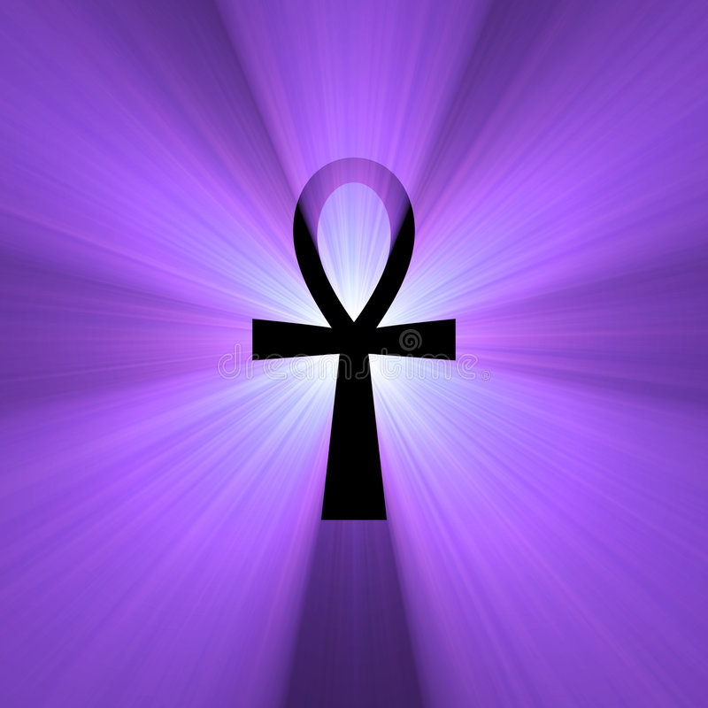 ankh egipski racy życia światła symbol ilustracja wektor