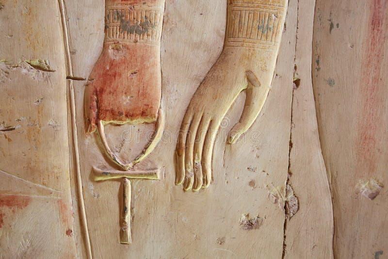 Ankh forntida symbol också som är bekant som tangent av liv, Egypten fotografering för bildbyråer