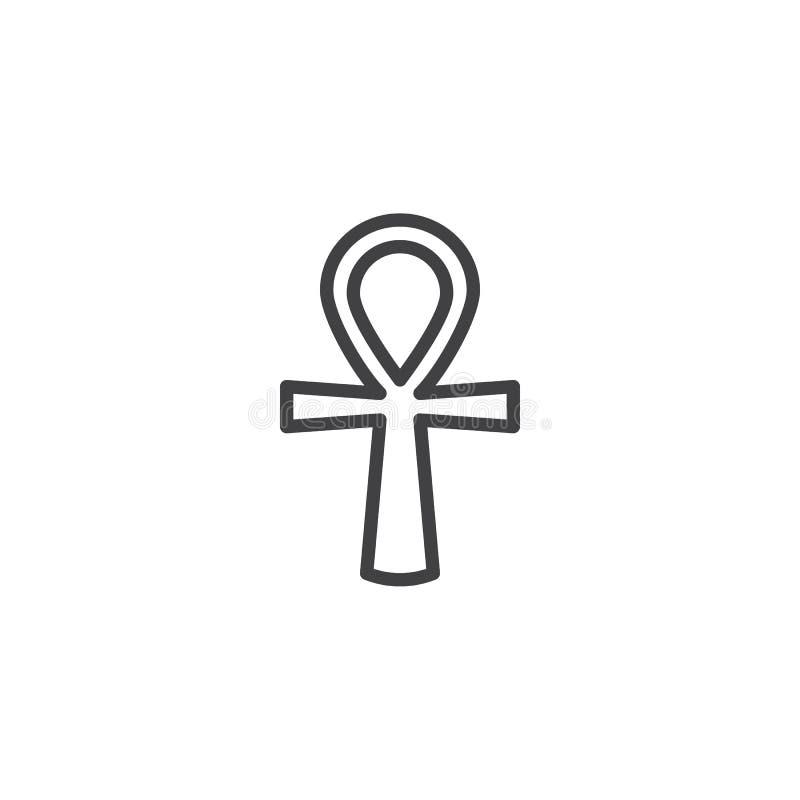 Ankh konturu ikona royalty ilustracja