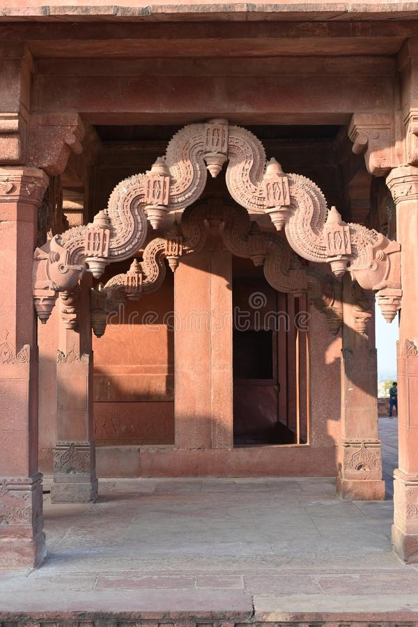 Ankh Micholi kassa, Fatehpur Sikri, Uttar Pradesh royaltyfri foto