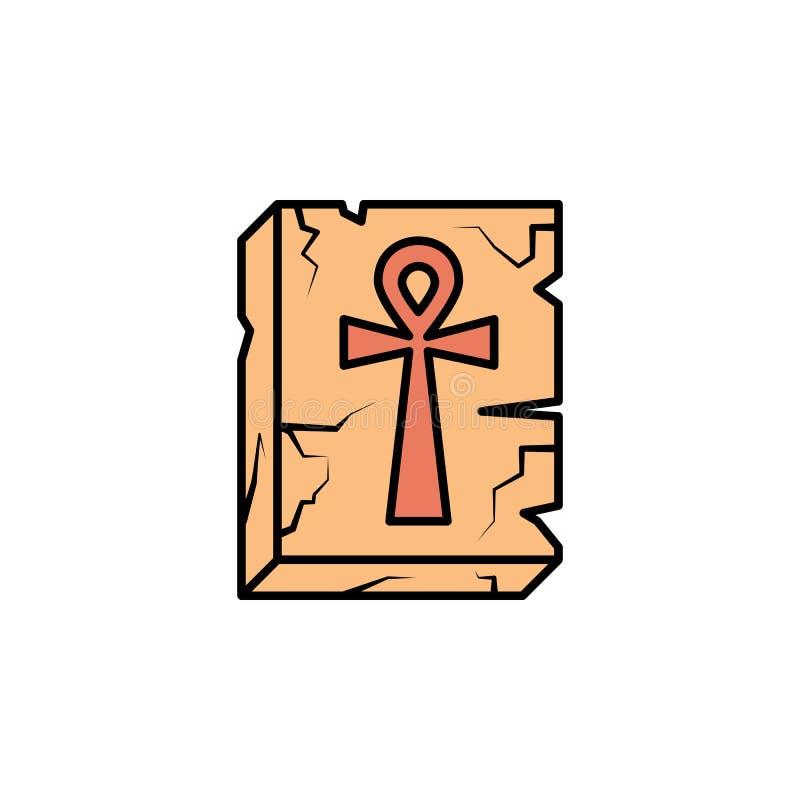 ankh, relevo, cruz, ícone egípcio Elemento do ícone da cor da história para apps móveis do conceito e da Web Ankh da cor, relevo, ilustração royalty free