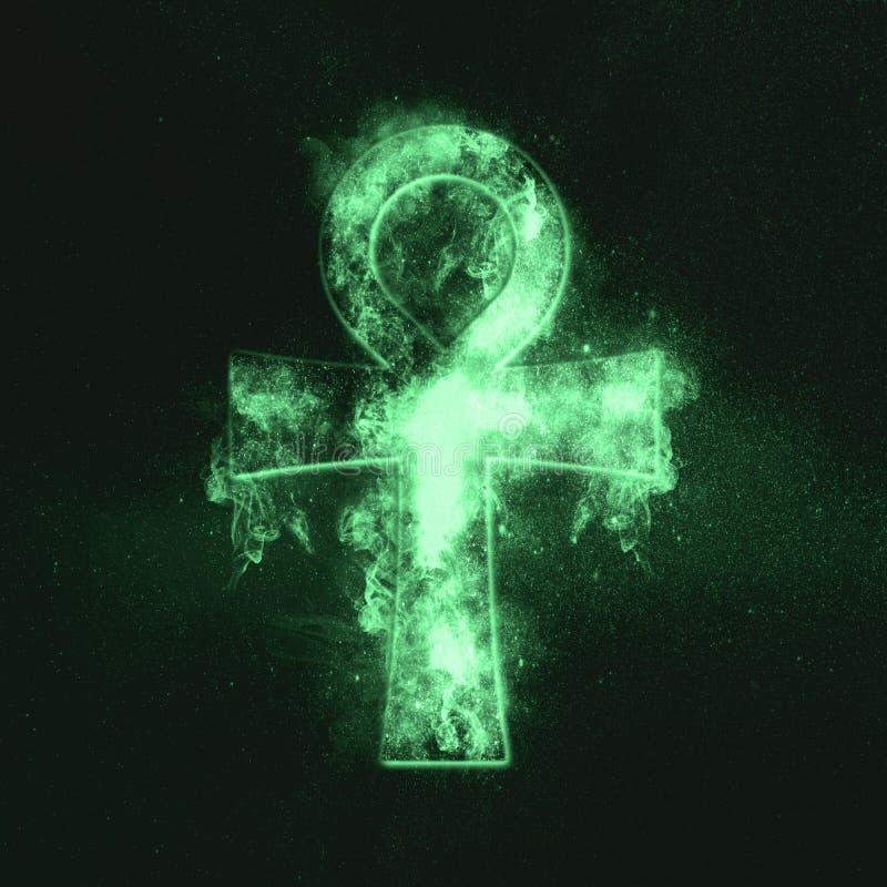 ankh Symbol życie Symbol nieśmiertelność Zielony symbol fotografia royalty free