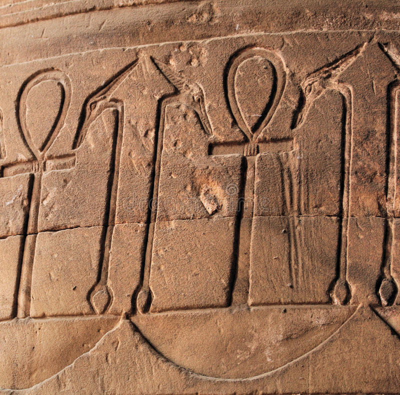Download Ankh symbol hieroglyph stock photo. Image of edfu, hieroglyph - 12314622