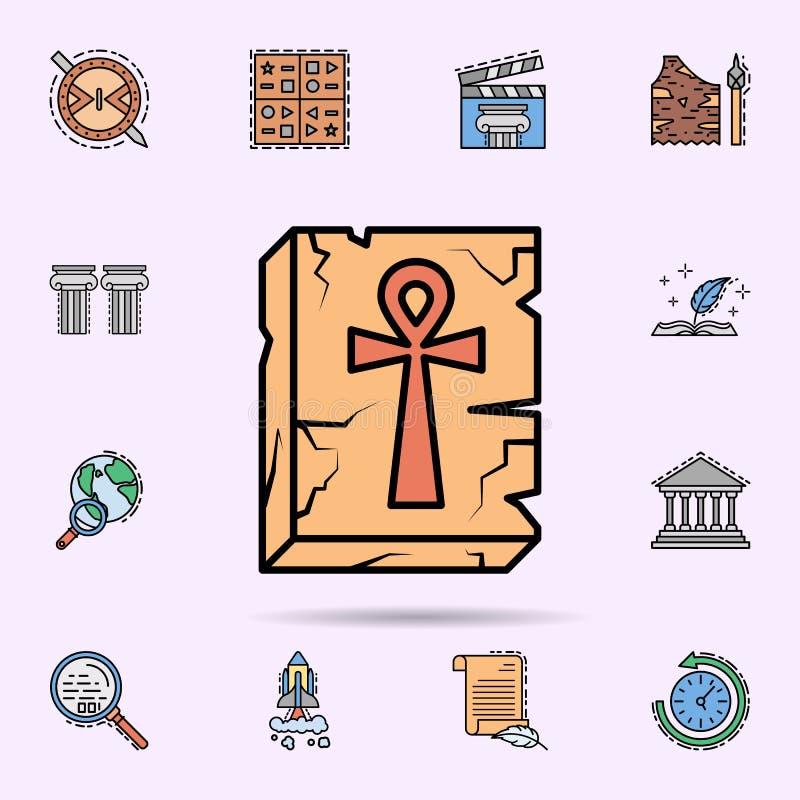 ankh, ulga, krzy?, Egipska ikona Og?lnoludzki ustawiaj?cy historia dla strona internetowa projekta i rozwoju, app rozw?j ilustracji
