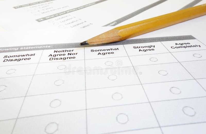 Ankieta makro- zdjęcie royalty free