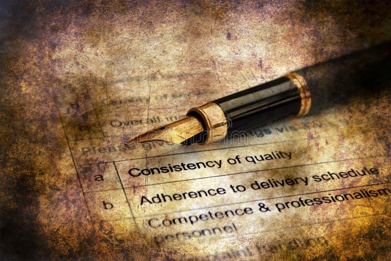 Ankiety forma - kontrola jakości zdjęcie royalty free