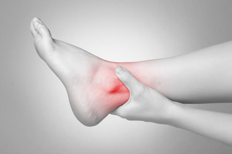 Ankle pain stock photos