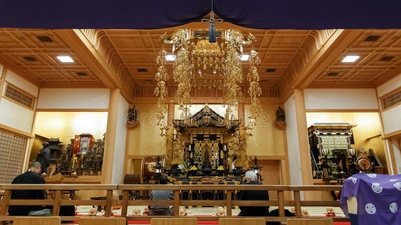Ankokuden Hall på den Zojoji templet i Tokyo arkivfoton