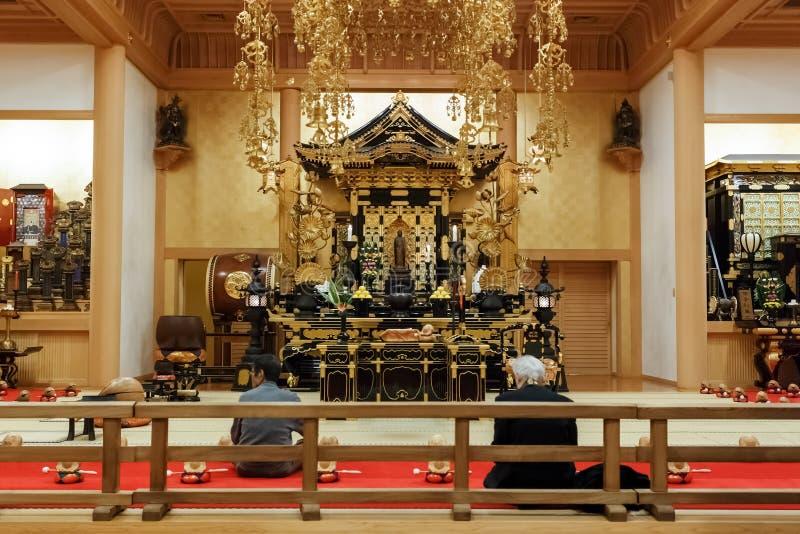 Ankokuden Salão no templo de Zojoji no Tóquio fotografia de stock royalty free
