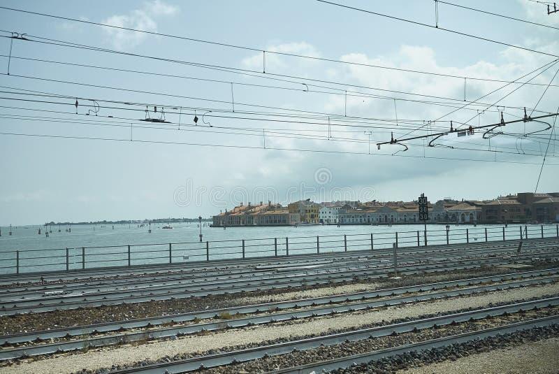 Ankommen in Venedig stockbild