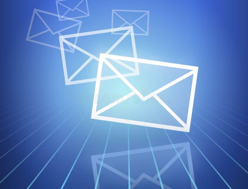 Ankommende Post lizenzfreie abbildung