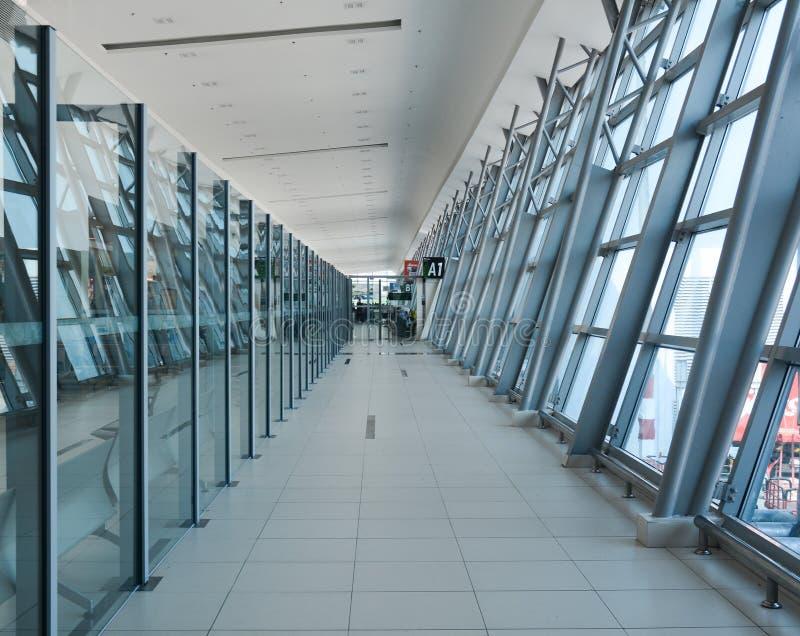 Ankomst Hall i den Penang flygplatsen, Malaysia royaltyfria foton
