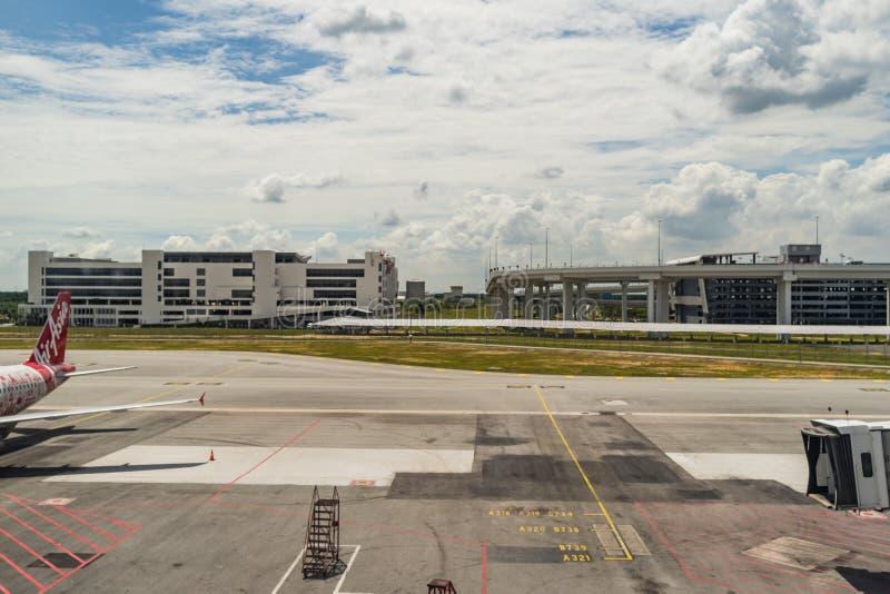 Ankomst Hall i Kuala Lumpur International Airport 2 Malaysia arkivfoton