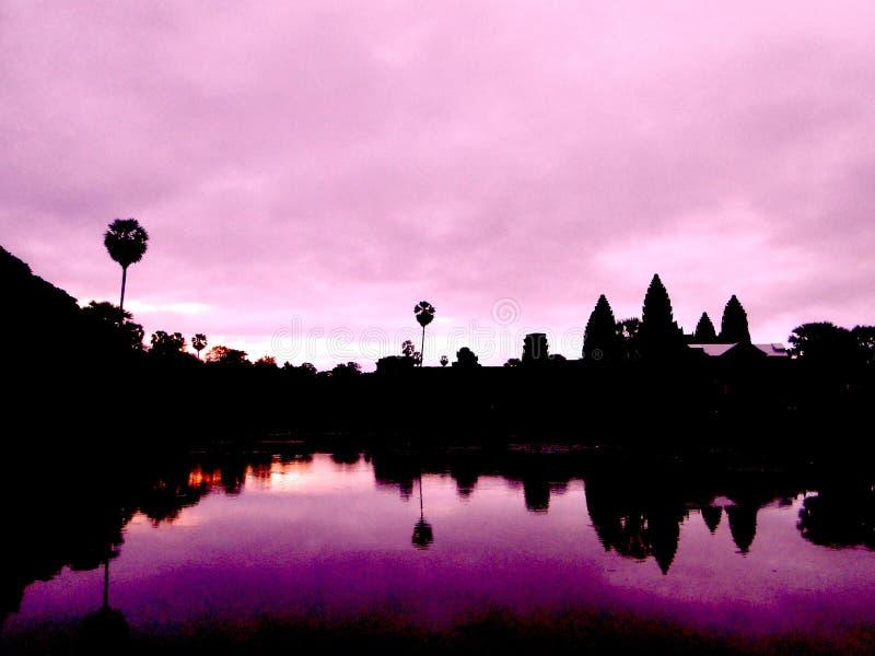 Ankor Wat Sunrise fotografie stock libere da diritti