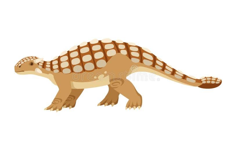 Ankylosaurus de Brown r Illustration plate d'isolement sur le fond blanc r illustration libre de droits