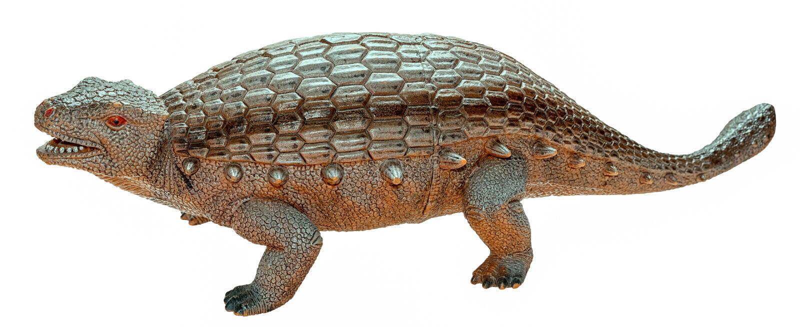 Ankylosaurus dinosaur toy figure isolated stock image