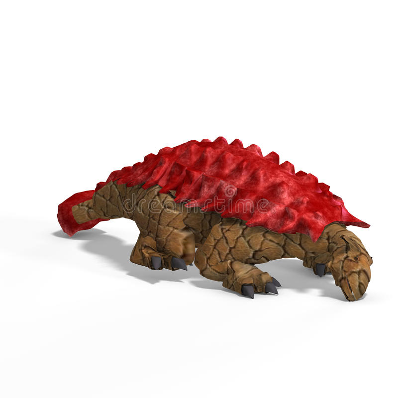 Ankylosaurus extraño del dinosaurio con el camino de recortes stock de ilustración