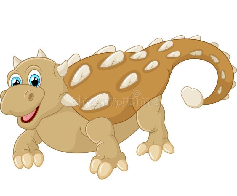 Ankylosaurus feliz de la historieta ilustración del vector