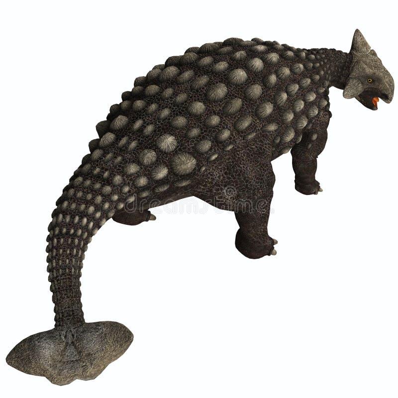 Ankylosaurus isolado ilustração royalty free