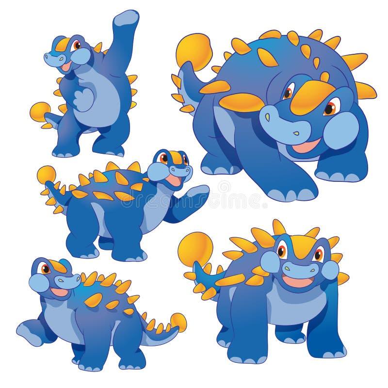 Ankylosaurus lindo stock de ilustración