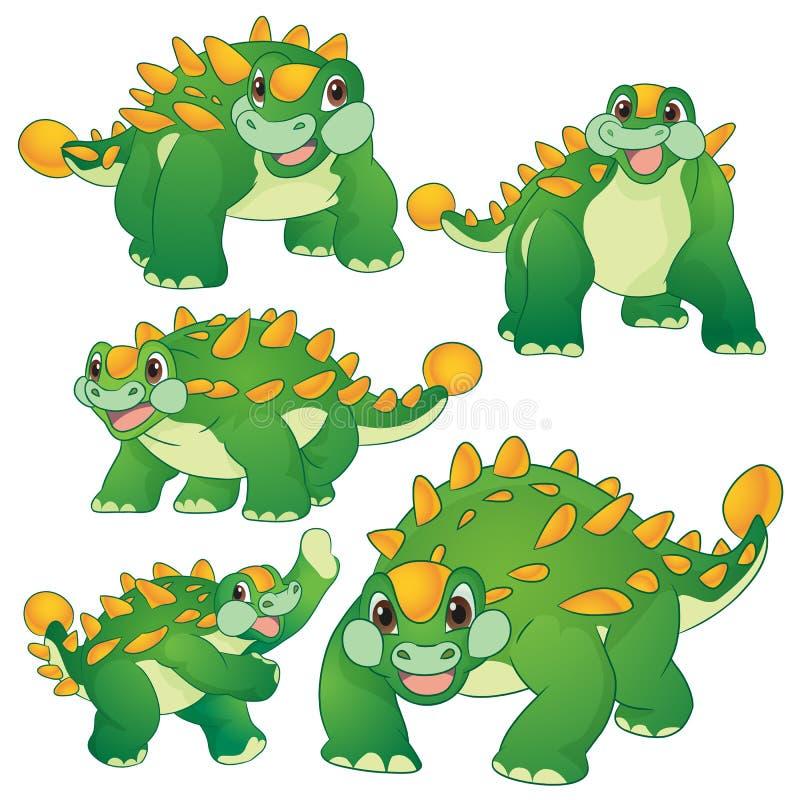 Ankylosaurus mignon illustration stock