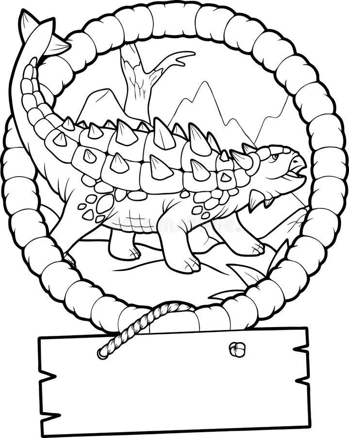 Ankylosaurus, preparándose para la batalla libre illustration