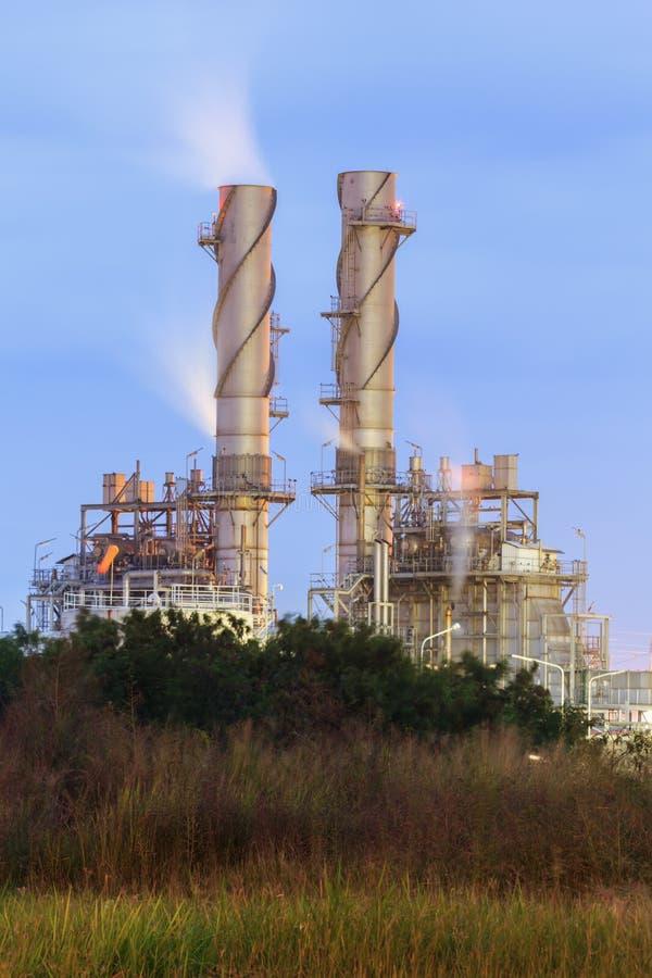 Anlage des elektrischen Stroms der Gasturbine stockfotos