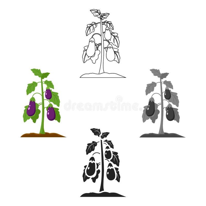 Anlage, Gem?sekarikaturikonen in der Satzsammlung f?r Design Garten und Ernte vector Netzillustration des Symbols auf Lager lizenzfreie abbildung