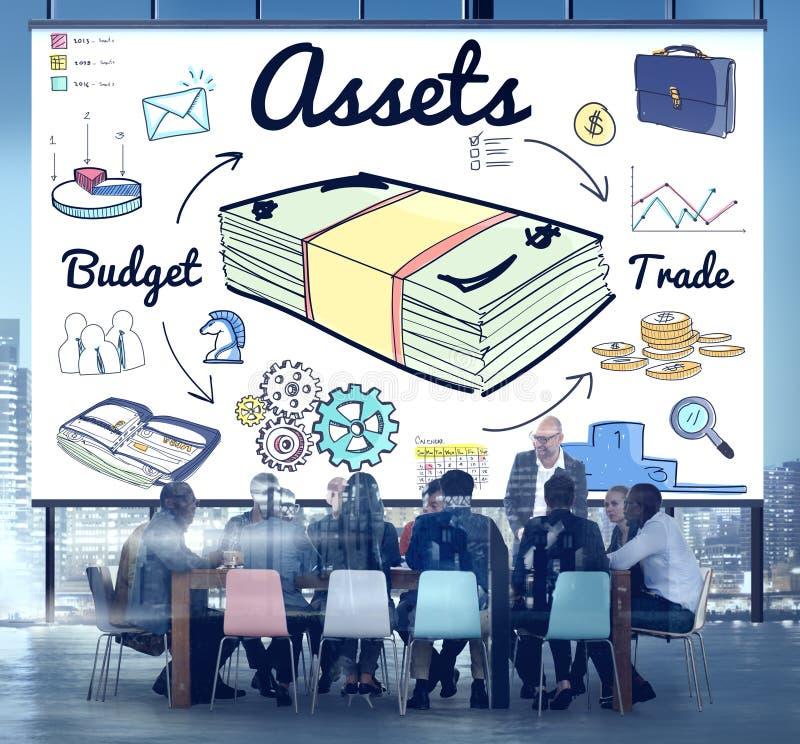 Anlagegut-Eigentums-Finanzgeld-Zustands-Kapitalbudget-Konzept lizenzfreie stockfotografie