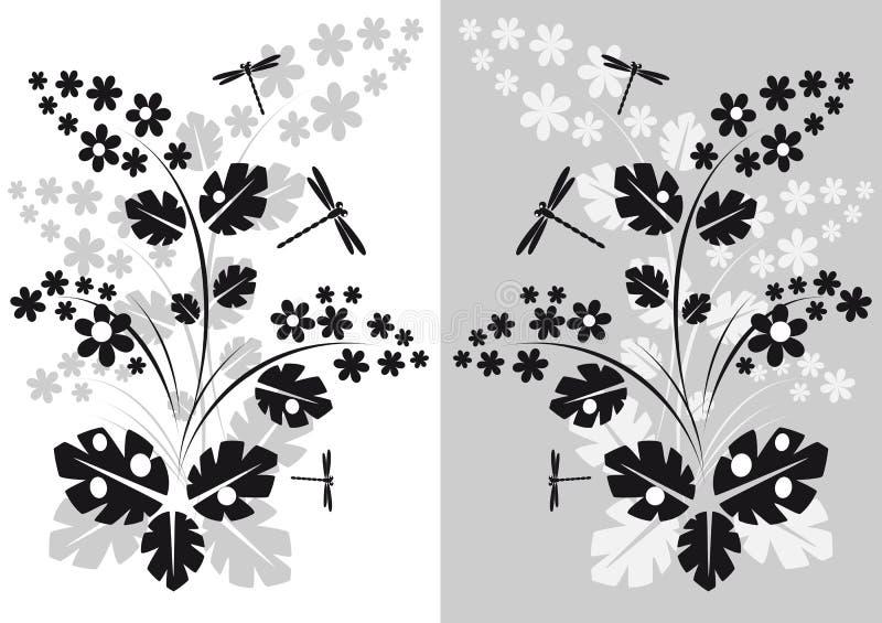Anlagen und Libellen vektor abbildung