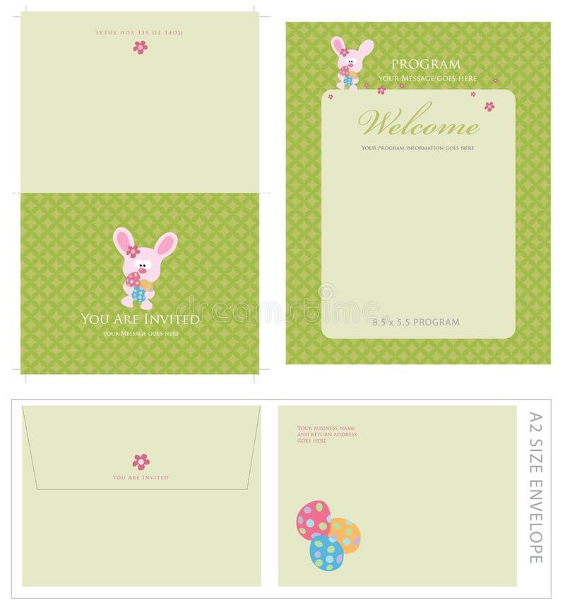 Anlass-Schablonen und Umschlag stock abbildung