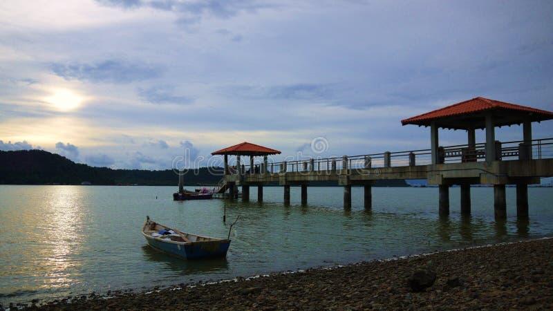 Anlegestelle Batu Musang stockbild