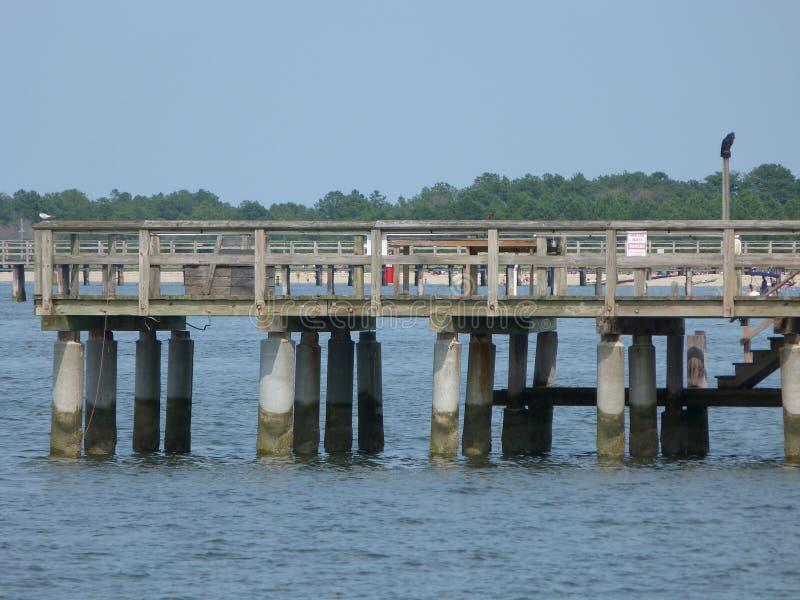 Anlegestelle bei Lewes, Delaware stockfoto