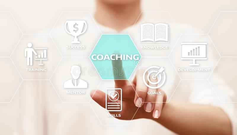 Anleitung des Förderungs-Bildungs-Geschäfts-Trainings-Entwicklungs-E-Learning-Konzeptes stockfoto