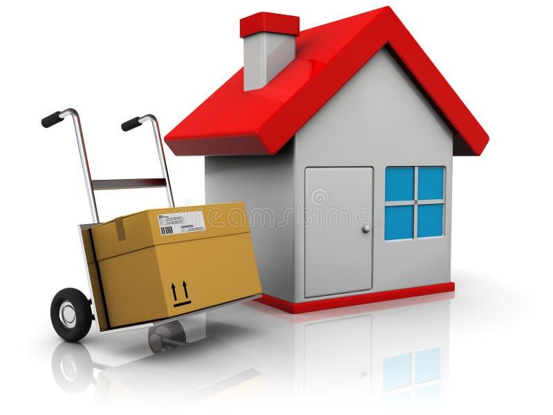 Anlieferung zum Haus stock abbildung