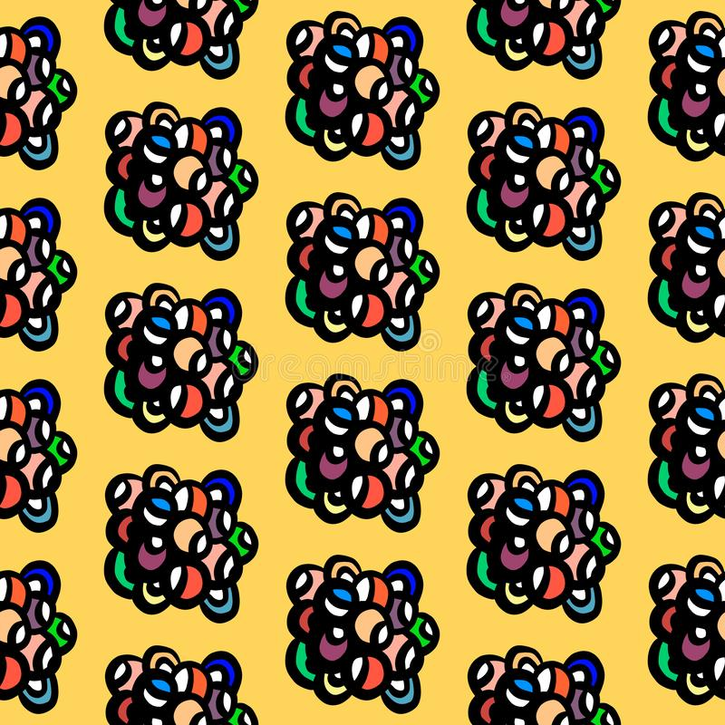 Anmärker utdragna regnbågefärger för hand i sten för tecknad filmminimalismstil fotografering för bildbyråer