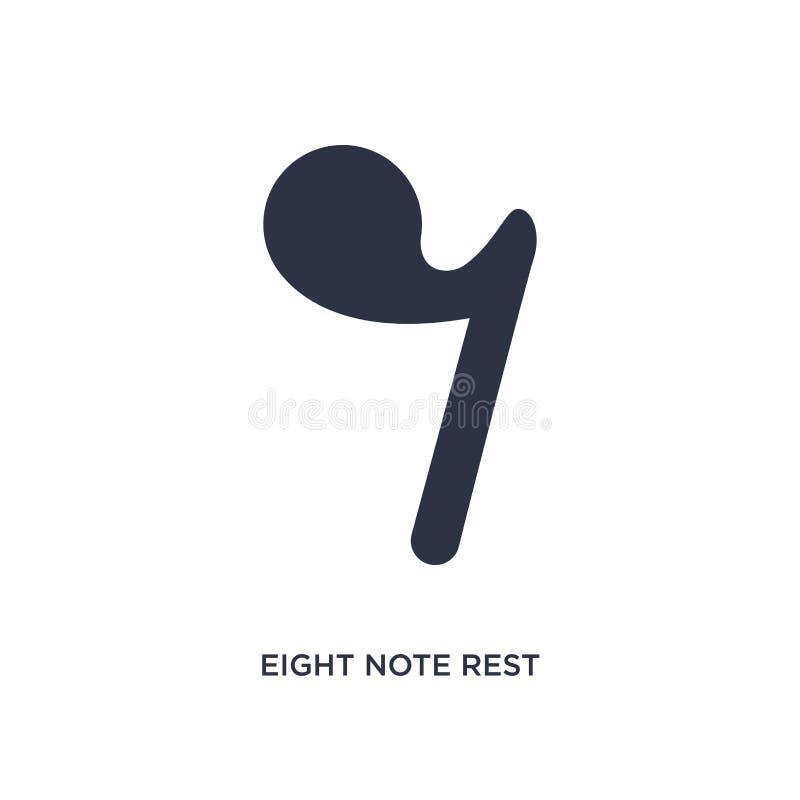 anmärkning åtta vilar symbolen på vit bakgrund Enkel beståndsdelillustration från musik och massmediabegrepp stock illustrationer