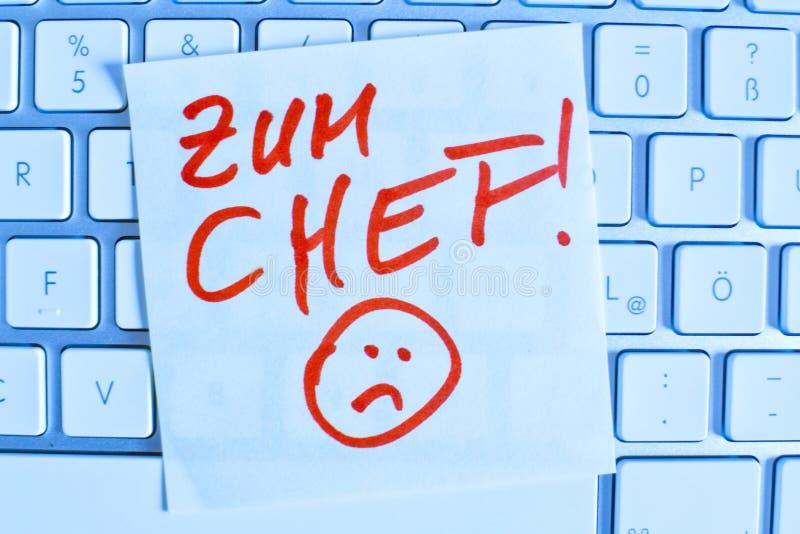 Anmärkning på datortangentbordet: framstickandet arkivfoto