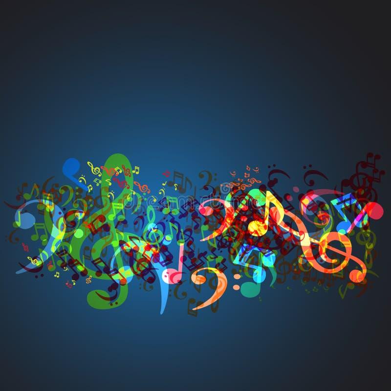 anmärkningar för bakgrundsmusik vektor illustrationer