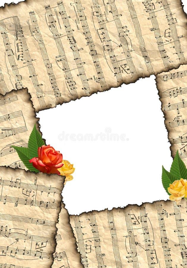 anmärkningar för musikal för bakgrundsbild vektor illustrationer