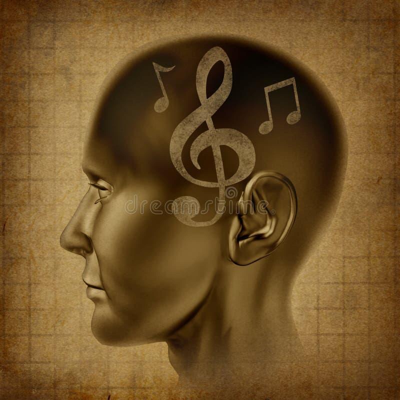 anmärkningar för musikal för musik för mening för hjärnkompositörsnille arkivbild