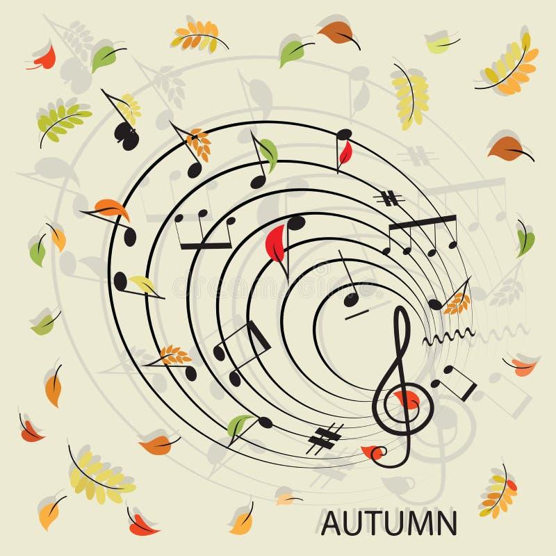 anmärkningar musik 2008 leaves för leaf för dunge för torr fall för lufthöst guld- nära oaken oktober russia vänder som spolar ye vektor illustrationer