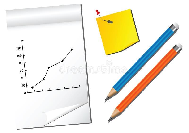 anmärkningsblyertspennor vektor illustrationer