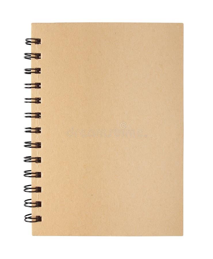 Anmärkningsbok som isoleras på vit royaltyfri bild