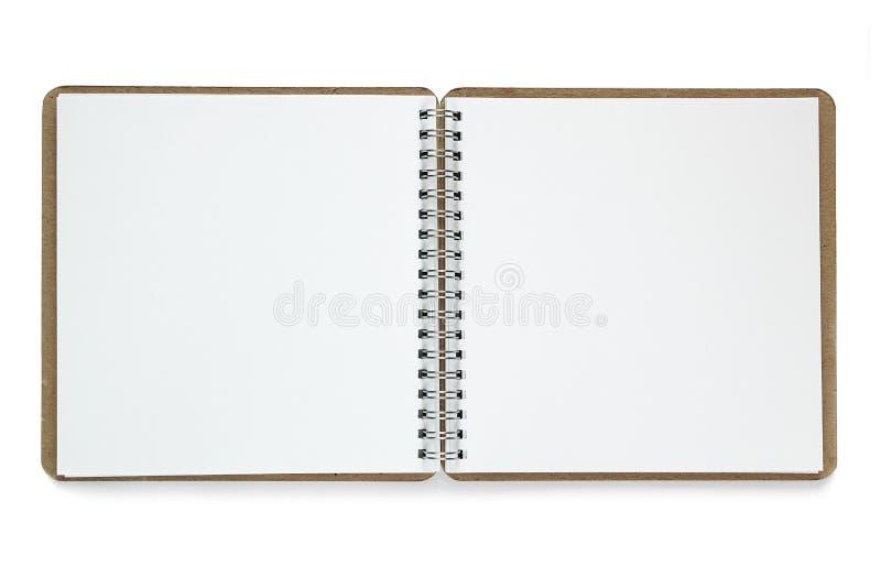 Anmärkningsbok som isoleras på vit bakgrund royaltyfria bilder