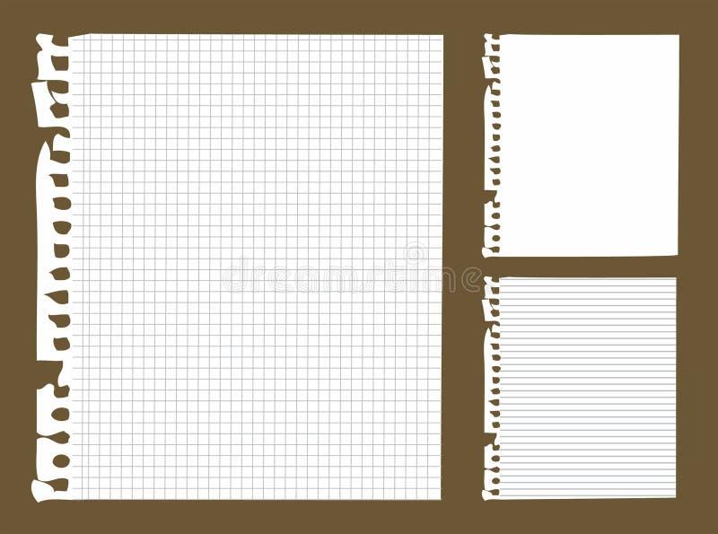 anmärkningspapper vektor illustrationer