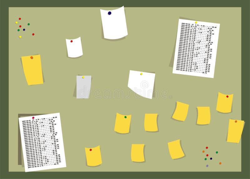 anmärkningspapperen arkivbild