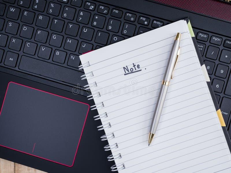 Anmerkung über Laptoptastatur 1 lizenzfreies stockbild