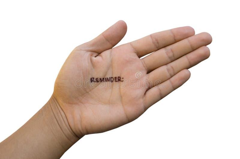 Anmerkung an Hand stockfotografie